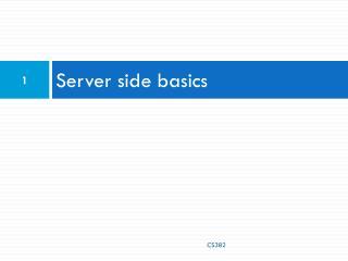 Server side basics