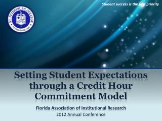 Setting Student Expectations through a Credit  Hour  Commitment Model