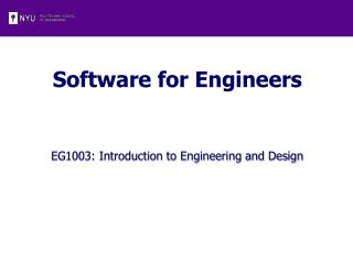 Software for Engineers