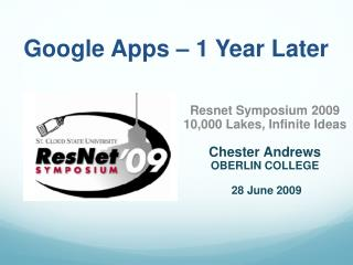 Google Apps – 1 Year Later