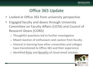 Office 365 Update