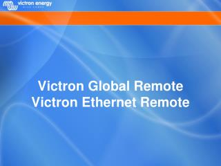 Victron Global Remote Victron Ethernet Remote