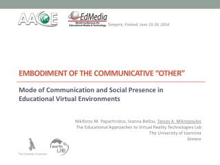 """Embodiment of the Communicative """"Other"""""""