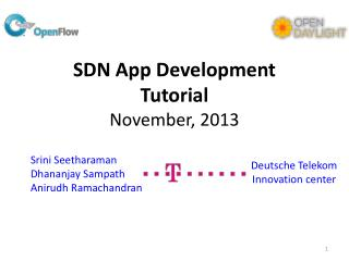SDN App Development Tutorial November, 2013