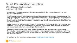 Guest Presentation Template ONF NBI Leadership Roundtable November 19, 2013