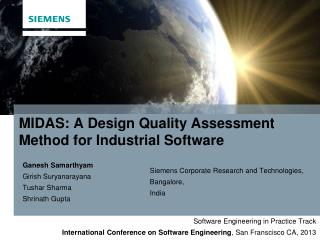 PPT - MIDAS: A Design Quality Assessment Method for Industrial