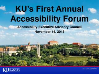 KU's First Annual Accessibility Forum