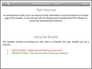 OCR Nationals ICT – Unit 5