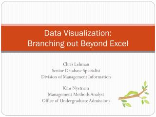 Data Visualization: Branching out Beyond Excel