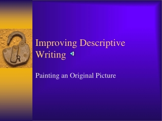 descriptive writing:
