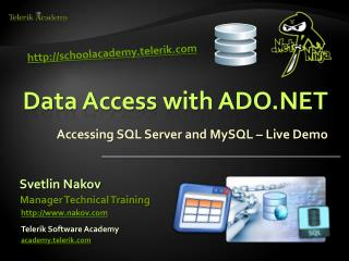 Data Access with ADO.NET