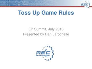 Toss Up Game Rules