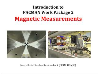 Introduction to  PACMAN Work Package 2 Magnetic Measurements