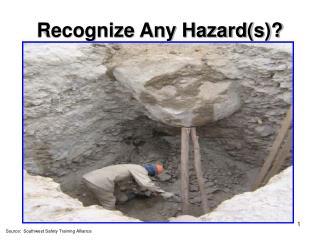 Recognize Any Hazard(s)?