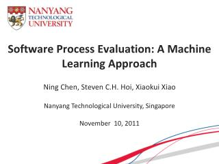 Software Process Evaluation: A Machine Learning Approach