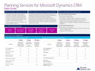 Planning Services for Microsoft Dynamics CRM