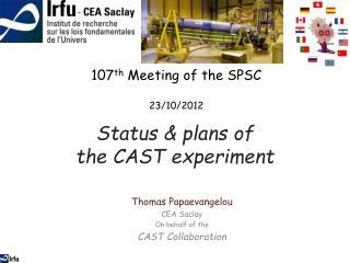 Status  & plans of  the  CAST  experiment