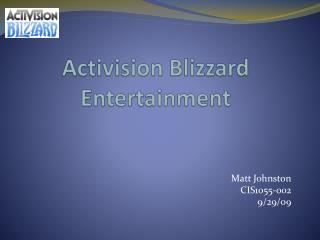 Activision Blizzard Entertainment