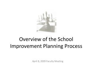 Overview of the School Improvement Planning Process