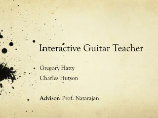 Interactive Guitar Teacher