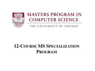 12-Course MS Specialization Program