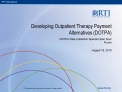 developing outpatient therapy payment alternatives dotpa