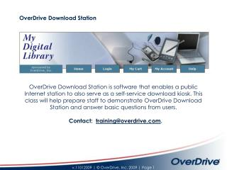 OverDrive Download Station