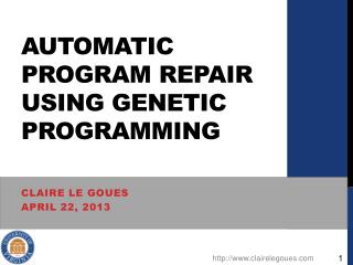Automatic Program repair using genetic programming