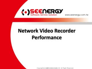 Network Video Recorder Performance