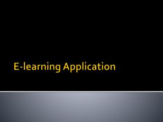 E-learning Application