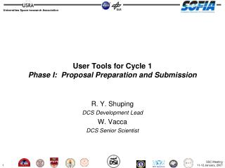 User Tools  for Cycle 1 Phase I:  Proposal Preparation and Submission