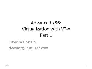 Advanced x86:  Virtualization with VT-x Part 1