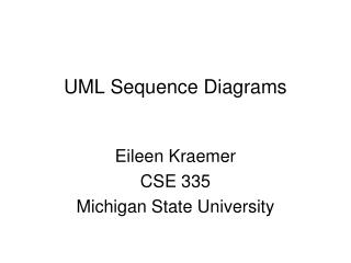 UML Sequence Diagrams