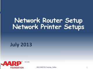Network Router  Setup Network Printer Setups