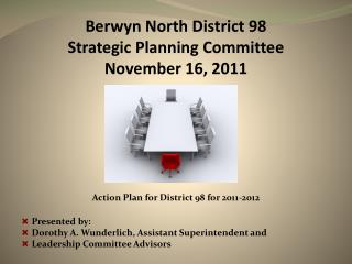 Berwyn North District 98 Strategic Planning Committee November 16, 2011
