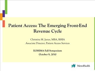 patient access: the emerging front-end revenue cycle