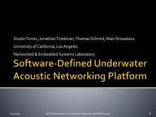 Software-Defined Underwater Acoustic Networking Platform