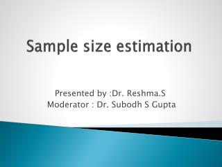 Sample size estimation
