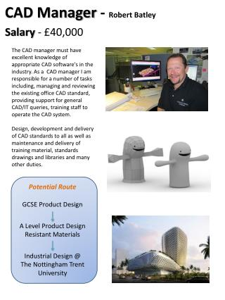 Potential Route GCSE Product Design A Level Product Design  Resistant Materials Industrial Design @ The Nottingham Trent