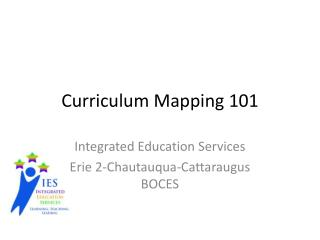 Curriculum Mapping 101