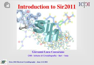 Introduction to Sir2011
