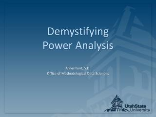 Demystifying  Power Analysis