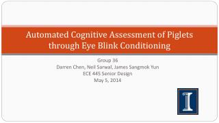 Automated Cognitive Assessment of Piglets through Eye  Blink Conditioning