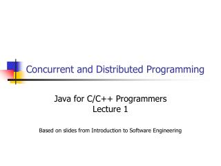 Concurrent and Distributed Programming