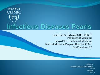 Infectious Diseases Pearls