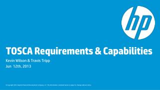 TOSCA Requirements & Capabilities