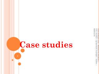 Architectural styles and  Case studies