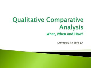 Qualitative Comparative Analysis