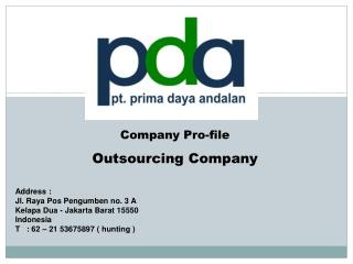 Company Pro - file Outsourcing Company
