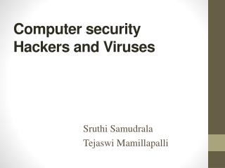 Computer security  Hackers and Viruses
